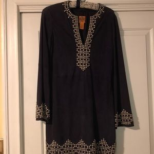 Tory Burch suede dress with studs